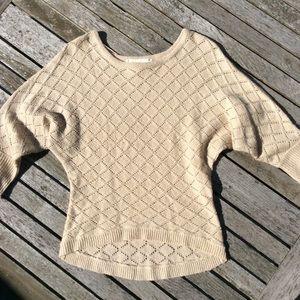 Cream/ Tan Crewneck Sweater
